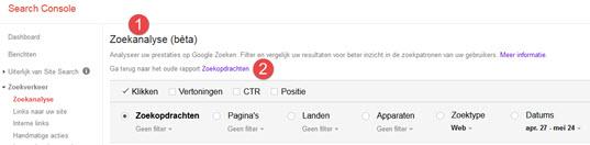 Google Search Console: zoekanalyse