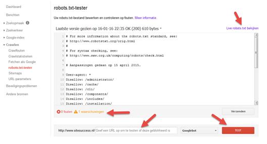 Google Search Console: URL's blokkeren, sitemaps, beveiligingsproblemen